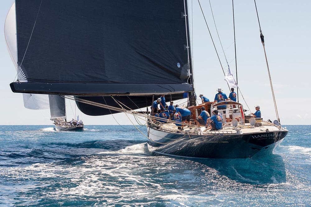 Bermuda, 14th June 2017. America's Cup Superyacht regatta. J Class race Two. (L to R) Velsheda JK7 and Hanuman JK6