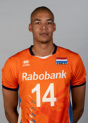 14-05-2018 NED: Team shoot Dutch volleyball team men, Arnhem<br /> Nimir Abdelaziz #14 of Netherlands