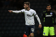 Preston North End midfielder Paul Gallagher (12) during the EFL Sky Bet Championship match between Preston North End and Brighton and Hove Albion at Deepdale, Preston, England on 14 January 2017.