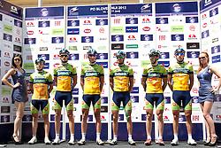 Team KK Sava during 1st Stage (164 km) at 19th Tour de Slovenie 2012, on June 14, 2012, in Celje, Slovenia. (Photo by Urban Urbanc / Sportida)