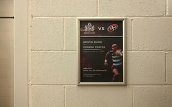 Bristol Rugby poster in toilets - Mandatory by-line: Robbie Stephenson/JMP - 20/12/2017 - FOOTBALL - Ashton Gate Stadium - Bristol, England - Bristol City v Manchester United - Carabao Cup Quarter Final