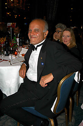 PROF.SIR MAGDI YACOUB at the Chain of Hope Autumn Ball Fiesta held at The Dorchester, Park Lane, London on 6th October 2004.