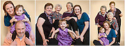 Family portraits cover a lot of territory.  From mom, dads and kids, to grandparents and cousins, to 50th anniversary portraits, to the family dog...all say family love.  Now that's family portraiture!