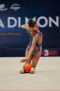 "Salos Anastasiia during the ""1st Trofeo Citta di Monza"" tournament. On this occasion we have seen the rhythmic gymnastics teams of Belarus and Italy challenge each other. The Bilateral period was only June 9, 2019 at the Candy Arena in Monza, Italy."