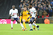 Serge Aurier of Tottenham Hotspur (24)  dribbling during the Premier League match between Tottenham Hotspur and Brighton and Hove Albion at Wembley Stadium, London, England on 13 December 2017. Photo by Matthew Redman.