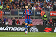 GERARD PIQUE of FC Barcelona during the Spanish championship Liga football match between FC Barcelona and Sevilla FC on April 5, 2017 at Camp Nou stadium in Barcelona, Spain. <br /> Photo Manuel Blondeau / AOP Press / ProSportsImages / DPPI