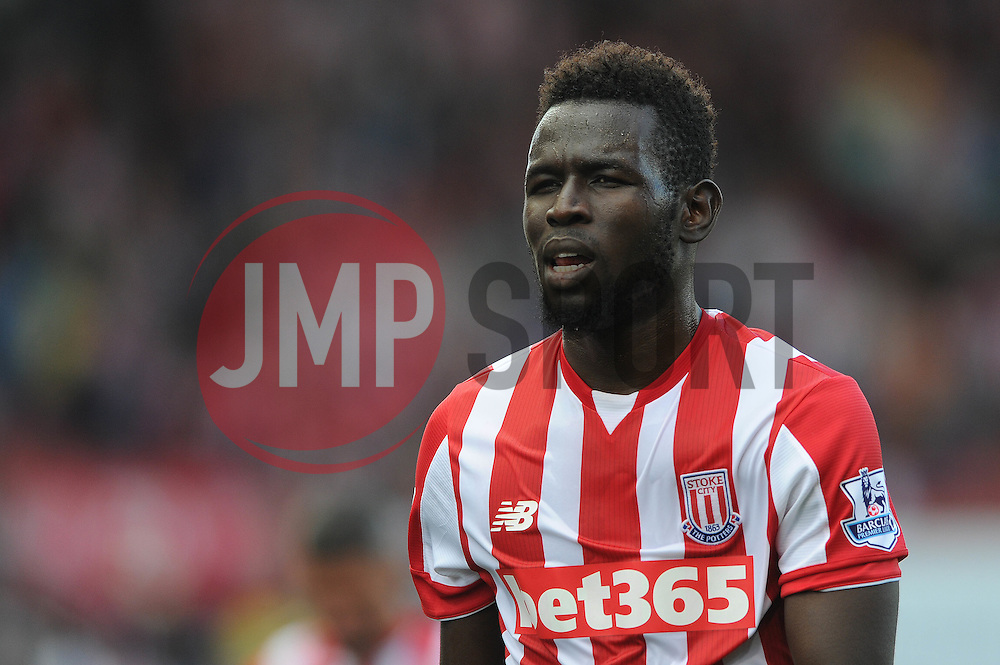 Mame Biram Diouf of Stoke City cuts a dejected figure - Mandatory byline: Dougie Allward/JMP - 07966386802 - 09/08/2015 - FOOTBALL - Britannia Stadium -Stoke-On-Trent,England - Stoke City v Liverpool - Barclays Premier League
