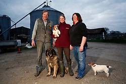 UK ENGLAND BERKSHIRE BUCKLEBURY 21MAR11 - Andreas (48), Tessa (20) and Waltraud (48) Hempel pose for a family portrait at Hillfoot Farm in Bucklebury, Berkshire, England. The Hempel family moved from Bayreuth to Bucklebury as farm managers 26 years ago...jre/Photo by Jiri Rezac..© Jiri Rezac 2011