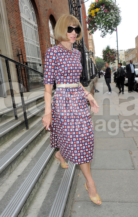 Anna Wintour attends Hunter Original SS 2015 catwalk show during London Fashion Week Spring Summer 2015 in London, UK. 13/09/2014 <br />