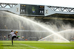 Tottenham Hotspur warm up before the match as the sprinklers are turned on - Mandatory by-line: Jason Brown/JMP - 05/03/2017 - FOOTBALL - White Hart Lane - London, England - Tottenham Hotspur v Everton - Premier League