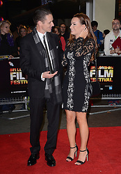 Daniel Finlay and Guest attend Kill Me Three Times Premiere as part of BFI LFF at Odeon West End on Saturday 18th October 2014
