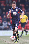 Picture by David Horn/Focus Images Ltd +44 7545 970036.23/02/2013.Matthew Sadler of Crawley Town during the npower League 1 match at the Matchroom Stadium, London.