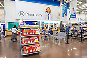 ROGERS, AR - OCTOBER 12:  Customers standing in line at the Pharmacy at Walmart Store #4208 on October 12, 2015 in Rogers, Arkansas.  <br /> CREDIT Wesley Hitt for Wall Street Journal<br /> WALSQUEEZE