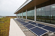 The green roof on the Rochester Institute of Technology's new Golisano Institute for Sustainability in Rochester, New York on September 10, 2014.