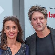 NLD/Amsterdam/20180819 - Premiere Blind Date, Vanessa Henneman en partner Daniel Boissevain