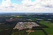 Nederland, Overijssel, Gemeente Ommen, 30-06-2011; Aardgasstation Vilsteren, compressor- en verdeelstation voor aardgas . Op het terrein in Vilsteren komt gas binnen van verschillende oorsprong, o.a. uit Slochteren en vanuit aardgasvelden op het continentaal plat. Dit gas wordt gemengd en verder getransporteerd naar kleinere verdeelcentra in Nederland. Ook wordt er gas voor export naar Duitsland getransporteerd. Het landelijke gastransportnet wordt beheerd door Gas Transport Services B.V. (GTS), dochteronderneming van N.V. Nederlandse Gasunie..Gas station Vilsteren, compressor and natural gas distribution station. .luchtfoto (toeslag), aerial photo (additional fee required).copyright foto/photo Siebe Swart