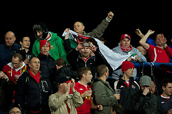 OSIJEK, CROATIA - Tuesday, October 16, 2012: Wales supporters during the Brazil 2014 FIFA World Cup Qualifying Group A match against Croatia at the Stadion Gradski Vrt. (Pic by David Rawcliffe/Propaganda)