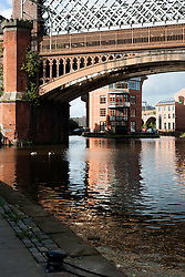Potato Wharf, Castlefield Manchester looking across the Bridgewater Canal ..29  September 2012.Image © Paul David Drabble