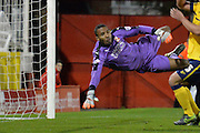 Swindon Town goalkeeper Lawrence Vigouroux during the Sky Bet League 1 match between Swindon Town and Scunthorpe United at the County Ground, Swindon, England on 14 November 2015. Photo by Mark Davies.