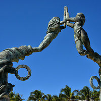 Portal Maya Sculpture in Playa del Carmen, Mexico<br />