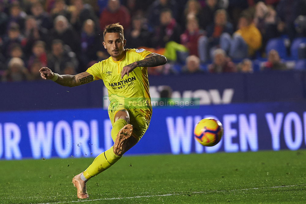 January 4, 2019 - Valencia, Spain - ALEIX GARCIA of Girona scores a goal during the La Liga match between Levante and Girona at Ciutat de Valencia Stadium. (Credit Image: © AFP7 via ZUMA Wire)