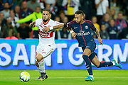 Paris Saint-Germain's Brazilian forward Neymar Jr vies during the French championship L1 football match between Paris Saint-Germain (PSG) and Toulouse, on August 20, 2017, at the Parc des Princes, in Paris, France - Photo Benjamin Cremel / ProSportsImages / DPPI