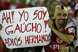 Torcida do Internacional comemoram a conquista da Copa Sulamericana 2008, após partida contra o Estudiantes, no estádio Beira Rio, em Porto Alegre. FOTO: Jefferson Bernardes/Preview.com