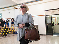 Claire Hunter exits the courtroom after Anthony Garcia was found guilty of her son Thomas', and three others', murder at the Douglas County Courthouse on Wednesday, October 26, 2016, in Omaha. <br /> <br /> MATT DIXON/THE WORLD-HERALD