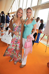 Left to right, HANNAH SANDLING and IMOGEN LLOYD WEBBER at the 2009 Veuve Clicquot Gold Cup Polo final at Cowdray Park Polo Club, Midhurst, West Sussex on 19th July 2009.