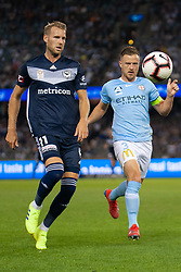 February 23, 2019 - Melbourne, VIC, U.S. - MELBOURNE, VIC - FEBRUARY 23: Melbourne Victory forward Ola Toivonen (11) competes for the ball downfield at round 20 of the Hyundai A-League Soccer between Melbourne City FC and Melbourne Victory on February 23, 2019 at Marvel Stadium, VIC. (Photo by Speed Media/Icon Sportswire) (Credit Image: © Speed Media/Icon SMI via ZUMA Press)