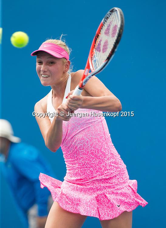 Donna Vekic (CRO)<br /> <br />  - Australian Open 2015 -  -  Melbourne Park Tennis Centre - Melbourne - Victoria - Australia  - 20 January 2015. <br /> &copy; Juergen Hasenkopf