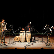 May 14, 2011 - Manhattan, NY : .The Afro-Cuban Jazz Saxtet performs during Symphony Space's Wall to Wall Sonidos concert on Saturday night. .CREDIT: Karsten Moran for The New York Times