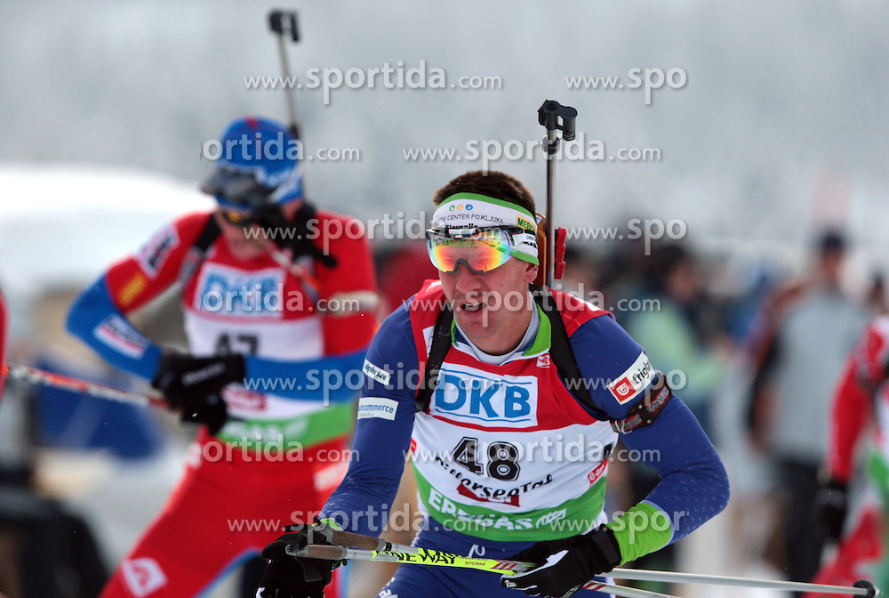 MARIC Janez of Slovenia during the 12.5 km pursuit of the e.on Ruhrgas IBU Biathlon World Cup on Friday December the 12th, 2009 in Hochfilzen - PillerseeTal, Austria. The second e.on Ruhrgas IBU World Cup stage is taking place in Hochfilzen - PillerseeTal, Austria until Sunday the 13th of December.  (Photo by Pierre Teyssot / Sportida.com)