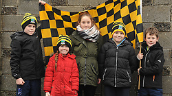 Young Louisburgh fans O'Toole's and O'Malley's show their colours in Ennis.<br />