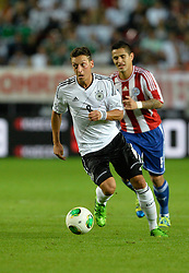 14.08.2013, Fritz Walter Stadion, Kaiserslautern, GER, Testspiel, Deutschland vs Paraguay, im Bild Mesut Oezil (GER) am Ball Aktion // during the international friendly match between Germany and Paraguay at Fritz Walter Stadium, Kaiserslautern, Germany on 2013/08/14. EXPA Pictures &copy; 2013, PhotoCredit: EXPA/ Eibner/ Michael Weber<br /> <br /> ***** ATTENTION - OUT OF GER *****