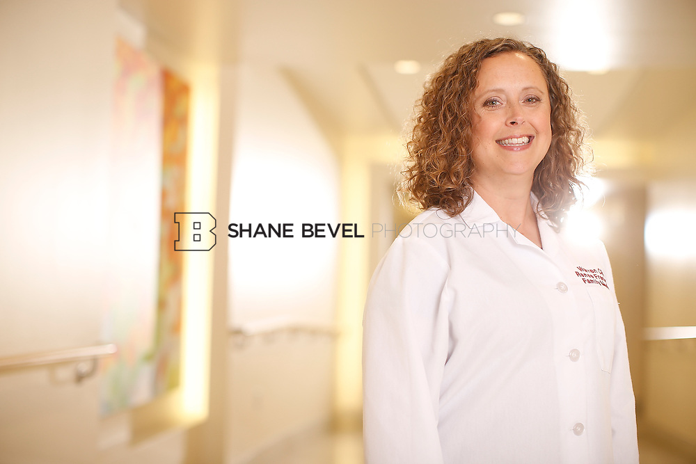 5/28/15 4:10:40 PM -- Dr. Renee Frenier of Saint Francis Health System poses for a portrait for the 2015 Advertising Campaign. <br /> <br /> Photo by Shane Bevel
