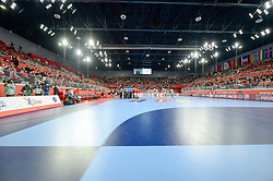 Arena Varazdin during handball match between National teams of Denmark and Hungary on Day 2 in Preliminary Round of Men's EHF EURO 2018, on Januar 13, 2018 in Skolsko Sportska Dvorana, Varazdin, Croatia. Photo by Mario Horvat / Sportida