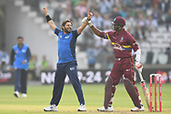 Shahid Afridi (captain) (Pakistan) of ICC World XI celebrates after taking the wicket of Andre Fletcher during the International Twenty/20 match at Lord's, London<br /> Picture by Simon Dael/Focus Images Ltd 07866 555979<br /> 31/05/2018