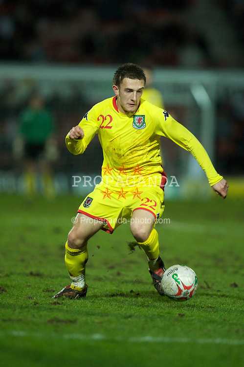 WREXHAM, WALES - Wednesday, February 6, 2008: Wales' Neal Eardley in action against Norway during an international friendly match at the Racecourse Ground. (Photo by David Rawcliffe/Propaganda)