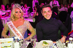 © Licensed to London News Pictures . RESENDING WITH CORRECTED DATE 06/05/2016 . Manchester , UK . 2015 Miss Manchester winner Jodi Eyre and Ray Quinn . Mr and Miss Manchester contest at the Palace Hotel in Manchester . Photo credit : Joel Goodman/LNP