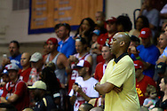 November 23 2015: Wake Forest Demon Deacons head coach Danny Manning during the Maui Invitational at  Lahaina Civic Center on Maui, HI. (Photo by Aric Becker)