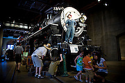 Visitors at the California State Railroad Museum in Sacramento, California.