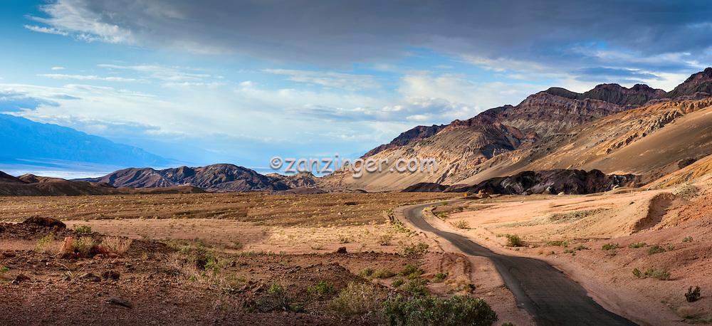 Death Valley National Park, Artists Palette, Road,  Panorama, Vista, Amargosa Range, DVNP CGI Backgrounds, ,Beautiful Background