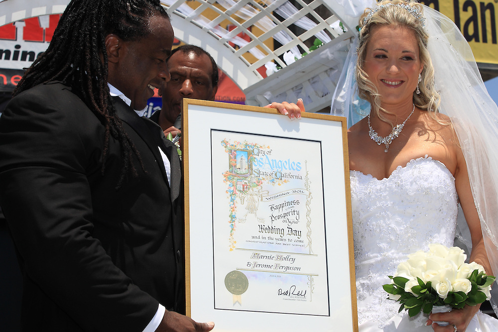 Jerome And Marnie Get Married At Muscle Beach! The only wedding ever to take place at world famous Muscle Beach at Venice Beach California!
