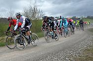 10 A Strade Bianche,a sinistra Van Avermanet Greg Fabian Cancellara e Gianni Moscon, Siena 5 marzo 2016 © foto Daniele Mosna