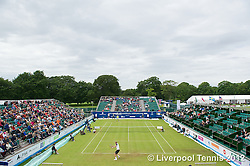 LIVERPOOL, ENGLAND - Saturday, June 23, 2012: Kevin Anderson (RSA) takes on Lukas Lacko (SVK) during the Men's Final on day three of the Medicash Liverpool International Tennis Tournament at Calderstones Park. (Pic by David Rawcliffe/Propaganda)