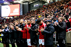 Bristol City Head Coach Lee Johnson and Bristol City and Millwall players, staff and fans take part in a minutes applause in tribute to the Afobe family following the passing of Benik Afobe's baby daughter Amora, aged 2 - Rogan/JMP - 10/12/2019 - Ashton Gate Stadium - Bristol, England - Bristol City v Milwall FC - Sky Bet Championship.
