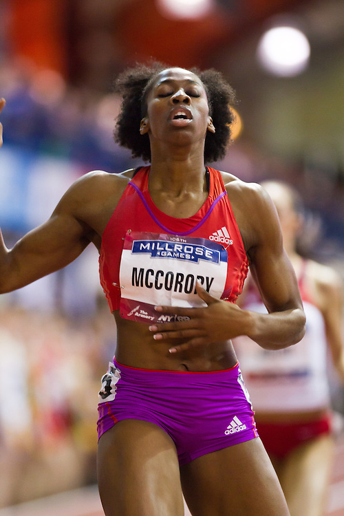 Millrose Games indoor track and field: Francena McCorory, women's 400 meters, winner, adidas