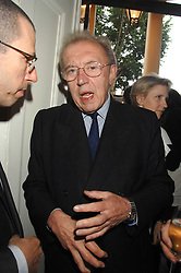 SIR DAVID FROST at the Tatler magazine Summer Party, Home House, Portman Square, London W1 on 27th June 2007.<br /><br />NON EXCLUSIVE - WORLD RIGHTS