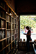 Loren McIntyre browses Time Tested Books in midtown Sacramento, California on August 18, 2015.